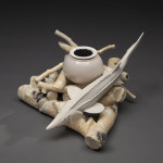 Haydon GUARDIAN (view 2) cast and thrown porcelain 9x10x10 2013 WEB