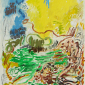 Scott Yellow Spring Painting 16 x 12 WEB