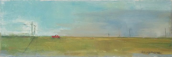 Dinsmore Red Truck and Poles 2014 8 x 24 WEB