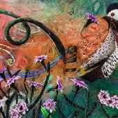 Waid FLOWER TASTER acrylic on canvas 66 in x 84 in WEB