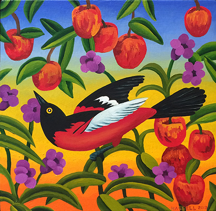 Hassell ORIOLE IN THE ORCHARD 12 x 12 WEB