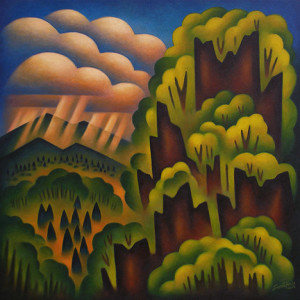 Sushe Felix Summer Valley 24 x 24 acrylic on panel WEB
